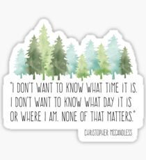 Into the Wild with Christopher McCandless Sticker