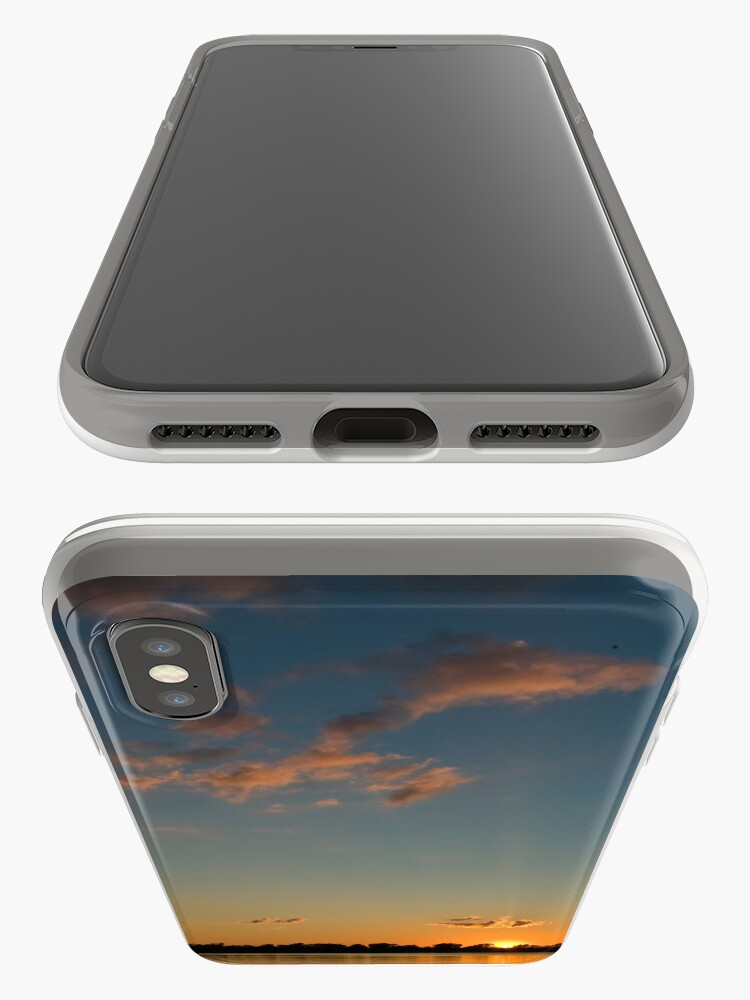 Alternate view of Sunset over the water iPhone Case & Cover