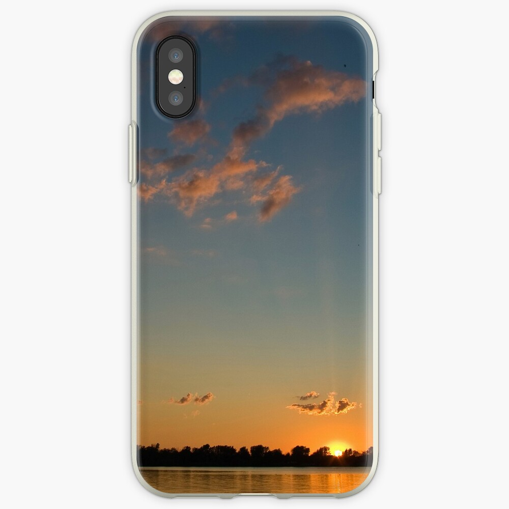 Sunset over the water iPhone Case & Cover