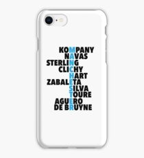 Manchester City spelt using player names iPhone Case/Skin