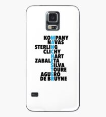 Manchester City spelt using player names Case/Skin for Samsung Galaxy