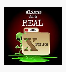 Aliens are Real Photographic Print