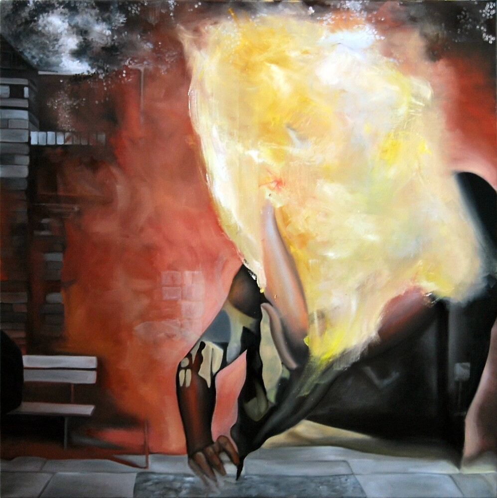 Anonymous, 2013, 100-100cm, oil on canvas by oanaunciuleanu