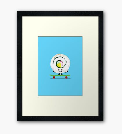 Character Building - California Roll Framed Print