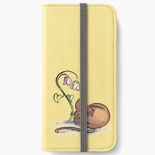 Mouse with Flowers iPhone Wallet