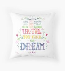 Sound of Music Climb Every Mountain Throw Pillow