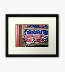 Oldfashioned Tableware - Macro Photography Framed Print