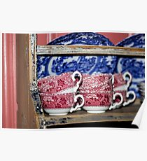 Oldfashioned Tableware - Macro Photography Poster