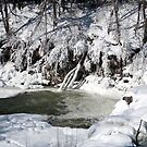 Indian falls in Winter by wolftinz