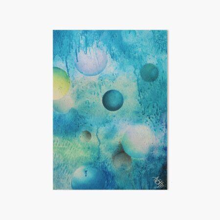 blue spheres and tears VIIa Art Board Print