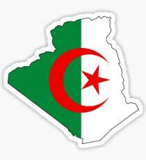 Flag Map of Algeria  Sticker