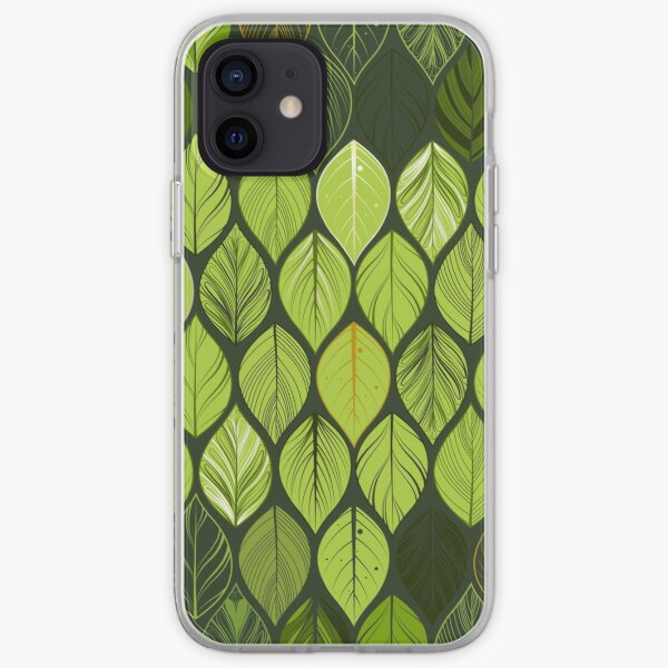 green leaves. leaf. nature. wild iPhone Soft Case