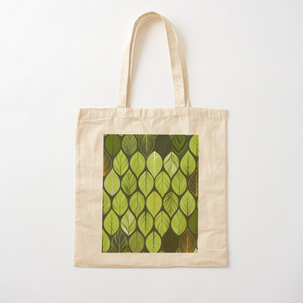 green leaves. leaf. nature. wild Cotton Tote Bag