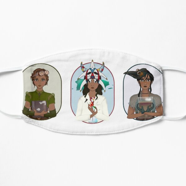 Triptych: Puerto Rican Scientist Flat Mask