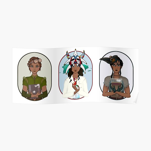 Triptych: Puerto Rican Scientist Poster