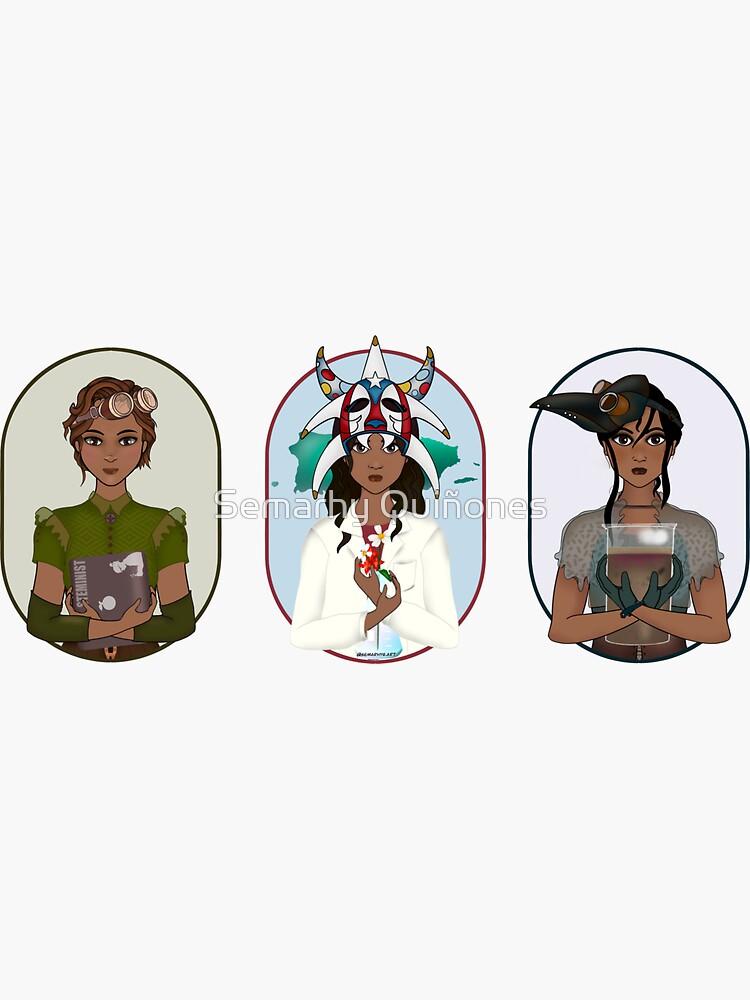 Triptych: Puerto Rican Scientist by semarhy