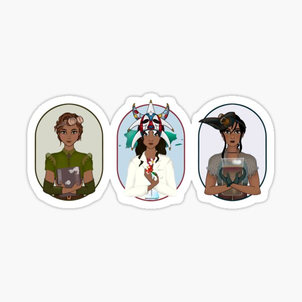 Triptych: Puerto Rican Scientist Sticker