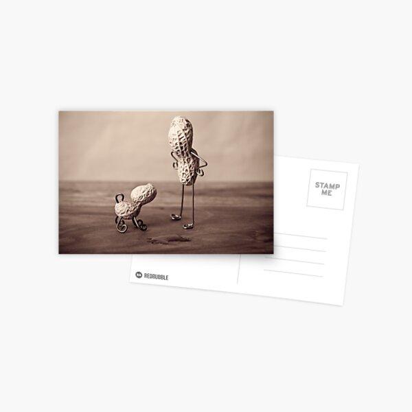 Einfache Dinge - Mann und Hund Postkarte
