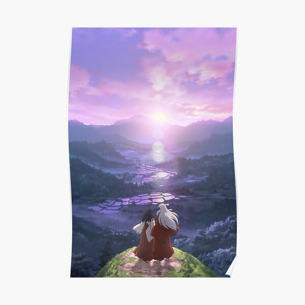 purple sky in the montain Poster