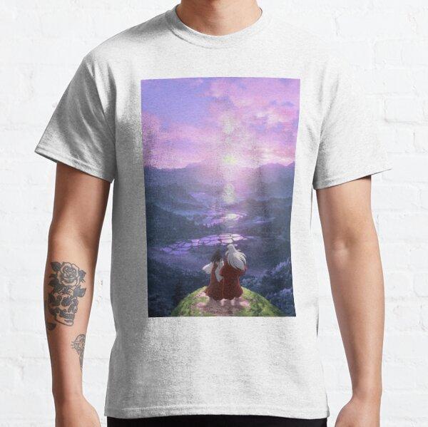 cielo púrpura en la montaña Camiseta clásica