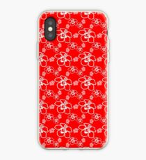 Red Hibiscus Hawaiian Pattern iPhone Case