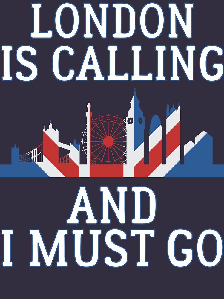 London ruft an und ich muss T-Shirt gehen von bitsnbobs