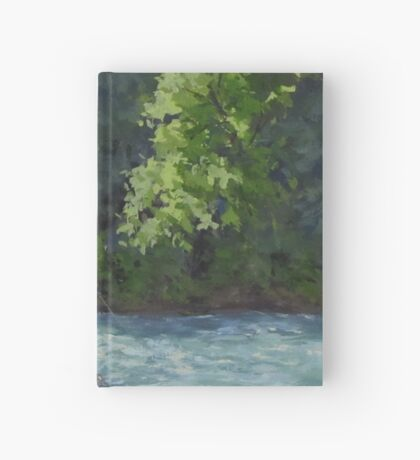 Favorite Spot - Original Fishing on the River Painting Hardcover Journal