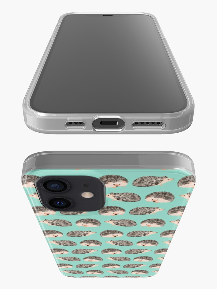 Alternate view of Hedgehog Turquoise iPhone Case & Cover
