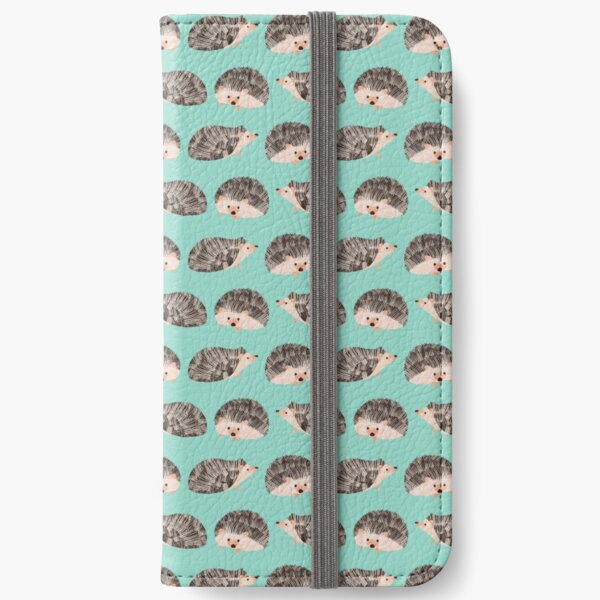 Hedgehog Turquoise iPhone Wallet
