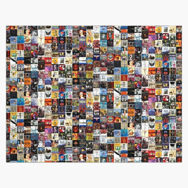 classic rock collage Jigsaw Puzzle