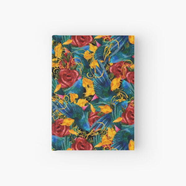 Birds and roses Hardcover Journal
