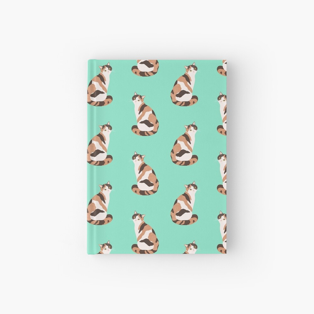 Spotted Cat pattern Hardcover Journal