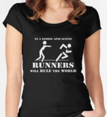Runners will rule the world Women's Fitted Scoop T-Shirt