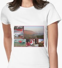 Collage/Postcard from Albania - Travel Photography Womens Fitted T-Shirt