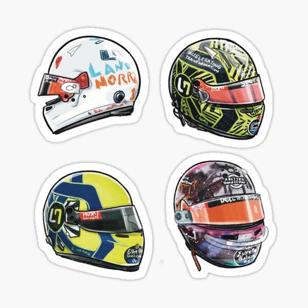 Lando Norris 2020 Set d'autocollants pour casque Volume 1 Sticker