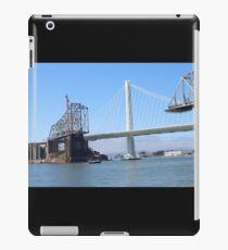 San Francisco To Oakland Bay Bridge - New And Old  iPad Case/Skin