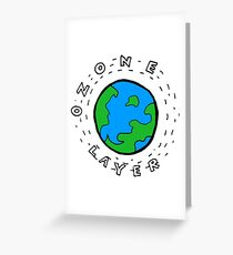 Earth's Ozone Layer Drawing Greeting Card