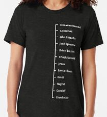 Beard Like T-Shirt | Famous Facial Hair Tee | Mens Beard Measuring Tshirt Tri-blend T-Shirt
