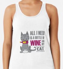 Wine and Cats Women's Tank Top