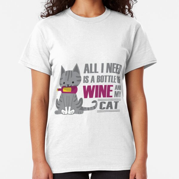 Wine and Cats Classic T-Shirt
