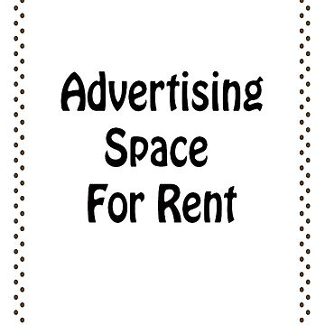 Advertisment Space for Rent - White by Grooveworks