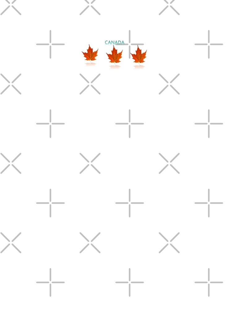 Canadian Pride- orange maple leaf's with white background and Canada written in a pale green by Veee8