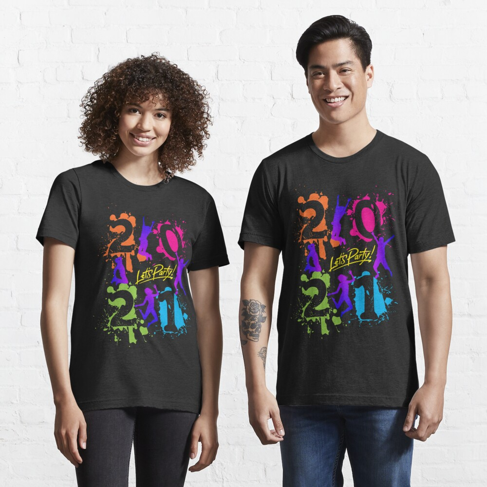 2021 Happy New Year Lets party by mickydee.com Essential T-Shirt