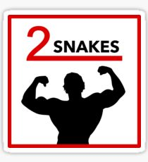 Two Snakes! Sticker
