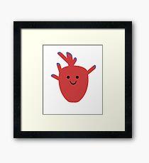 Happy Heart :) Framed Print
