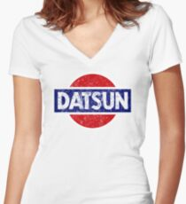 Datson - retro Women's Fitted V-Neck T-Shirt