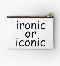 ironic or iconic comic sans Studio Pouch