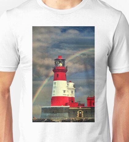 Rainbow Shining Through Lighthouse ~ Farne Islands T-Shirt