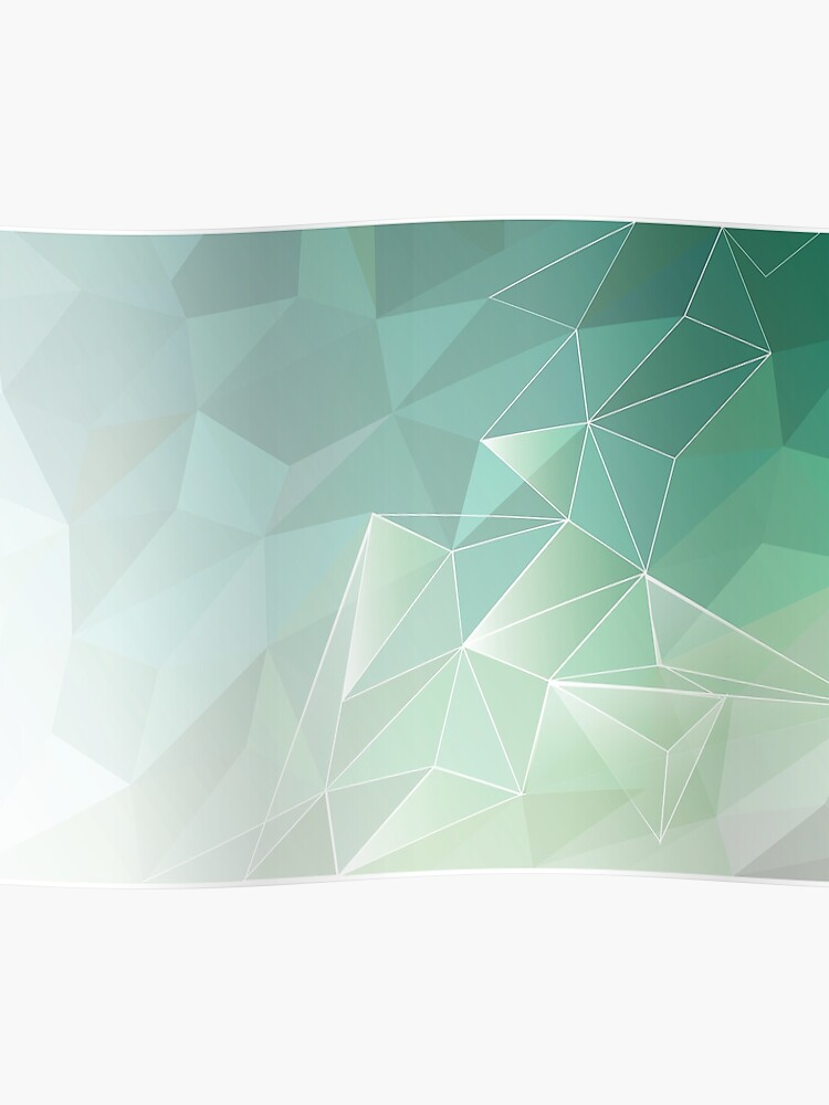 abstract polygon pattern , light green | Poster
