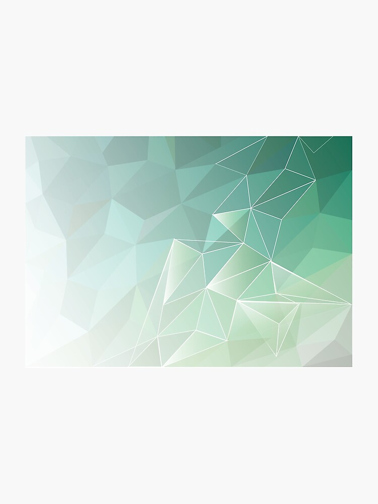 abstract polygon pattern , light green   Photographic Print